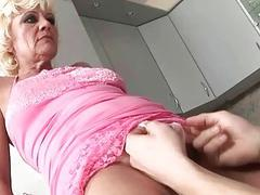 Hot hairy granny gets...