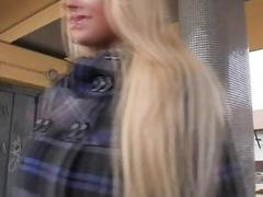 Eurobabe flashes her big...