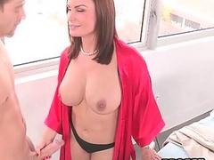 Naughty Stepmom Eva ends to...