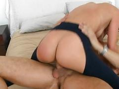 2 gorgeous babes share a...