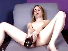 Teen Natasha Riding A Brown...