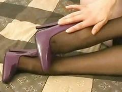 Legs ass stockings nylons...