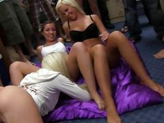 College girls having fun
