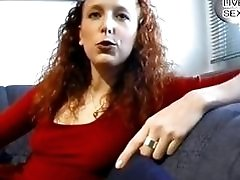 Redhead German plays with...