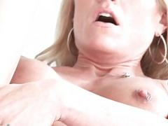 Slutty blonde MILF fingers...