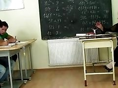 Mature teacher is pounded...
