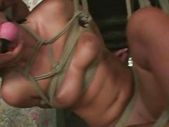 Sex slave gets tied up and...