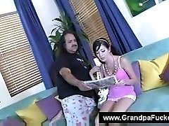 Ron jeremy touching a young...