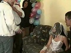 Latin bride groupsex in...